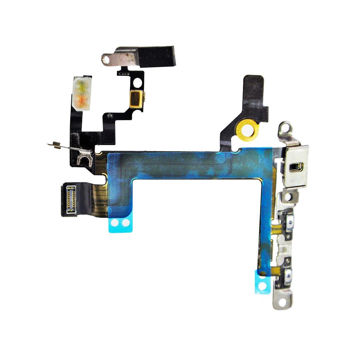 Шлейф для Apple iPhone 5S на кнопку включения/кнопки громкости/микрофон/вспышка