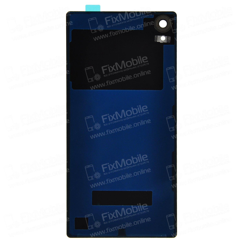 Задняя крышка для Sony Xperia Z5 (E6853) (черная) Премиум