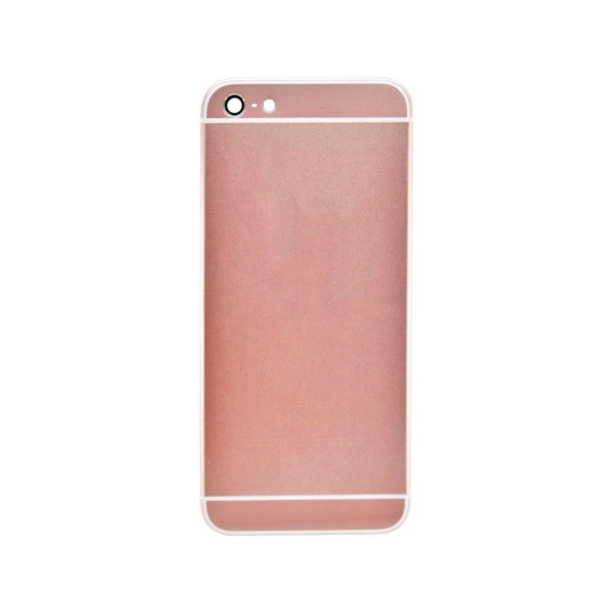 Корпус для Apple iPhone 5 дизайн Iphone 6 (розовый)
