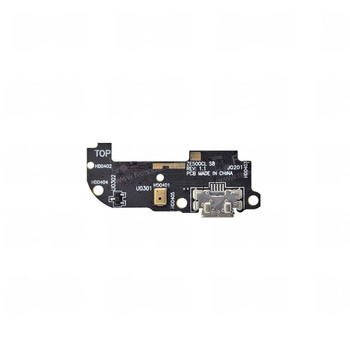 Шлейф для ASUS ZenFone 2 ZE500CL плата на системный разъем/микрофон