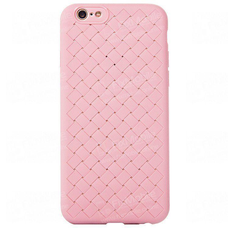 Чехол-накладка для Apple iPhone 6 Plus (розовая)(068)