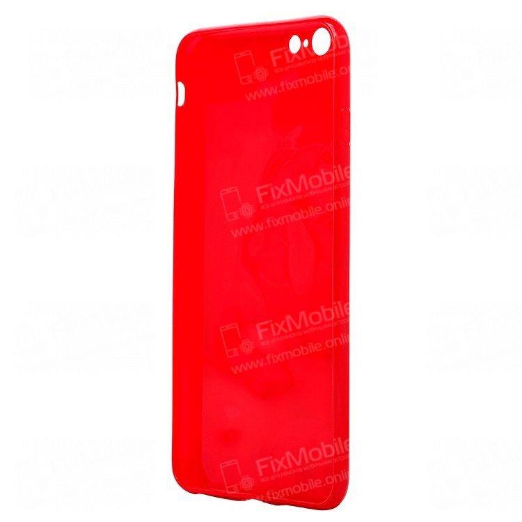 Чехол-накладка для Apple iPhone 6 Plus (красная)(072)
