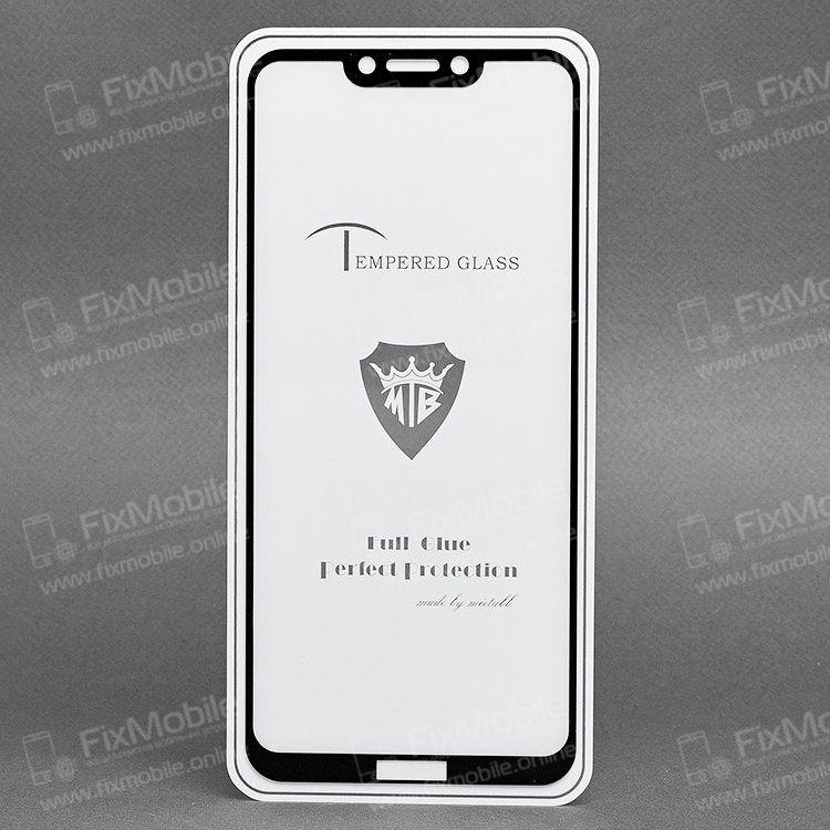 Защитное стекло для Huawei Honor Play (полное покрытие)(черное)